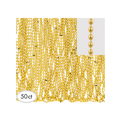 "30"" Metallic Necklaces Gold"