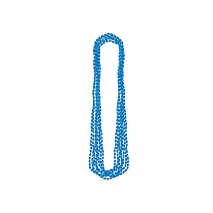 "30"" Metallic Necklaces Blue"