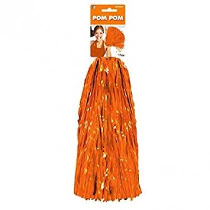 "15"" Pom Pom Mixes Orange"