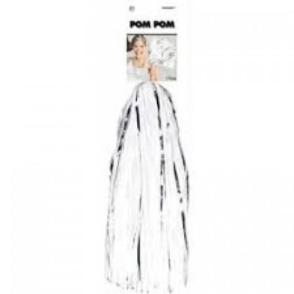 """15"""" Pom Pom Mixes White"""