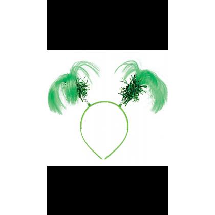"8"" x 5"" Ponytail Headbands Green"