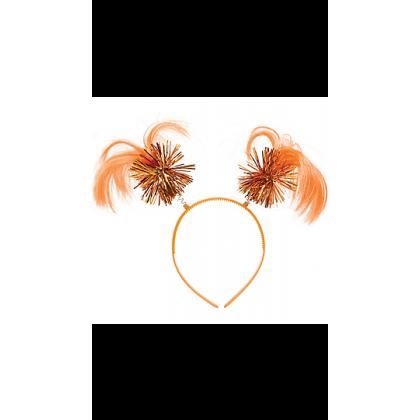 "8"" x 5"" Ponytail Headbands Orange"
