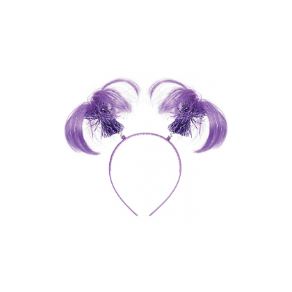 "8"" x 5"" Ponytail Headbands Purple"