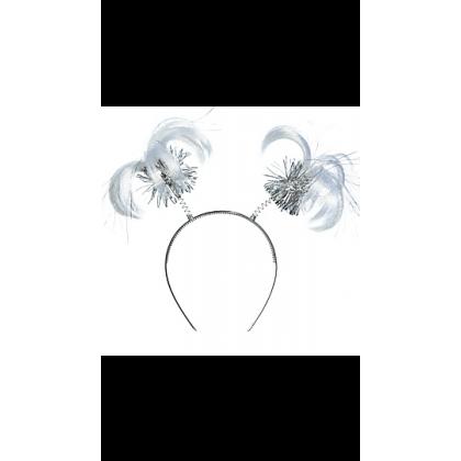 "8"" x 5"" Ponytail Headbands Silver"
