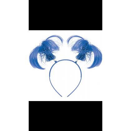 "8"" x 5"" Ponytail Headbands Blue"