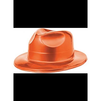 "4 1/2""H x 10 11/16""W x 12 13/16""D Vac Form Fedoras Orange"