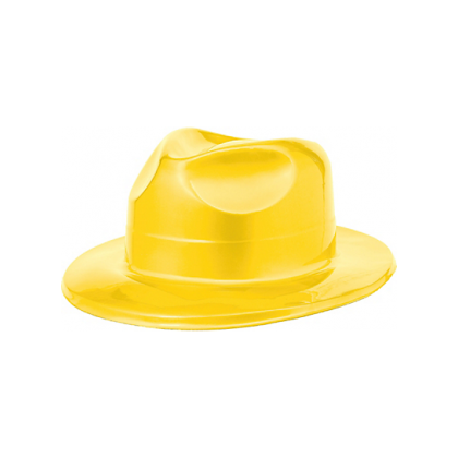 "4 1/2""H x 10 11/16""W x 12 13/16""D Vac Form Fedoras Yellow"