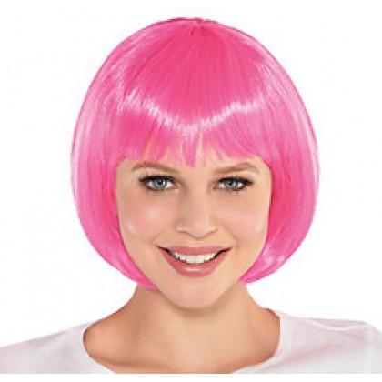 Adult/Child Bob Wigs Pink