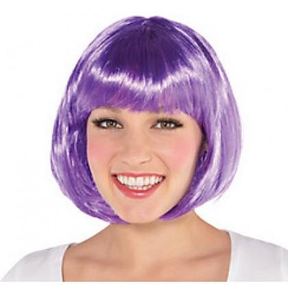 Adult/Child Bob Wigs Purple