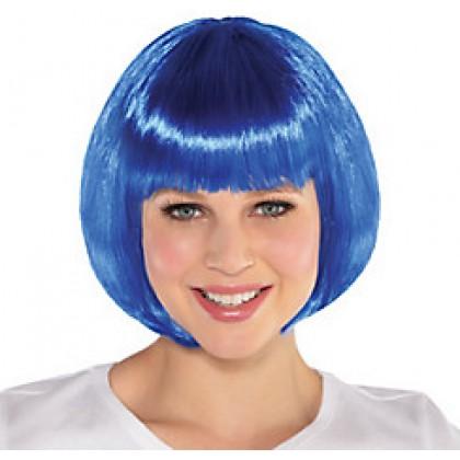 Adult/Child Bob Wigs Blue