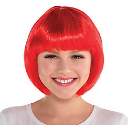 Adult/Child Bob Wigs Red