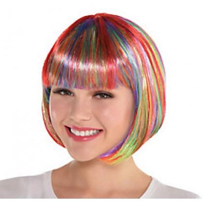 Adult/Child Bob Wigs Rainbow