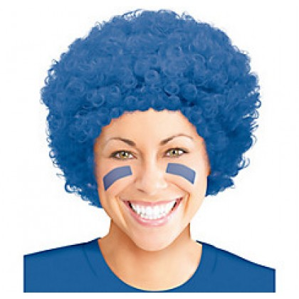 Adult/Child Curly Wigs Blue