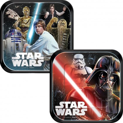 Star Wars Classic Square Plates, 7in