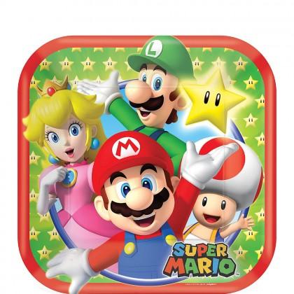 Super Mario Brothers™ Square Plates 7in
