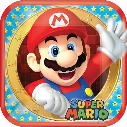 Super Mario Brothers™ Square Plates, 9in