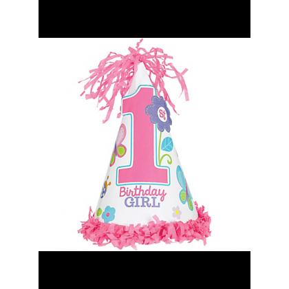 Sweet Birthday Girl Cone Hat - Paper