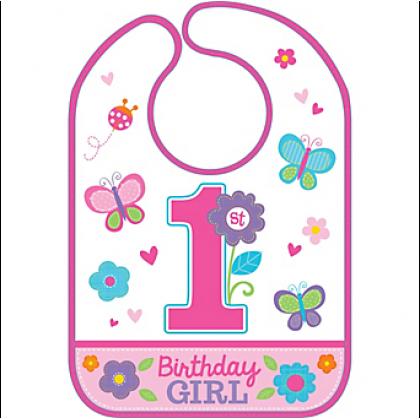 Sweet Birthday Girl Baby Bib - Vinyl