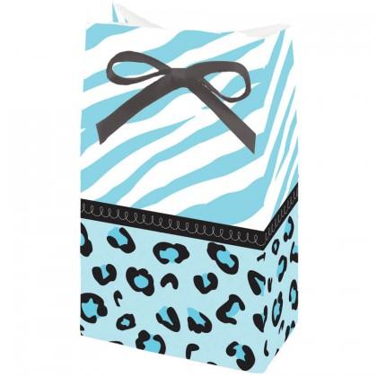 Sweet Safari Boy Favor Bags - Paper w/Ribbon