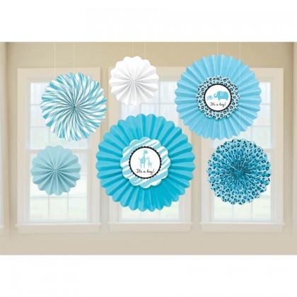 Sweet Safari Boy Paper Fan Decorations