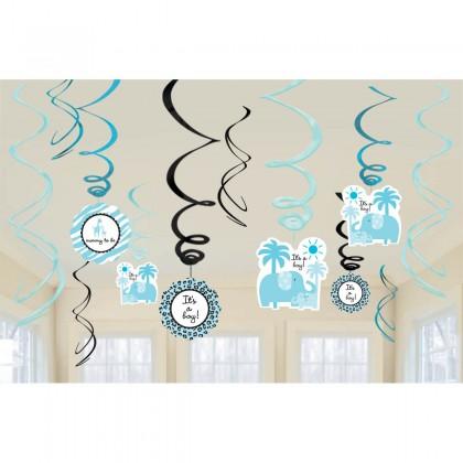 Sweet Safari Boy Value Foil Swirl Decorations