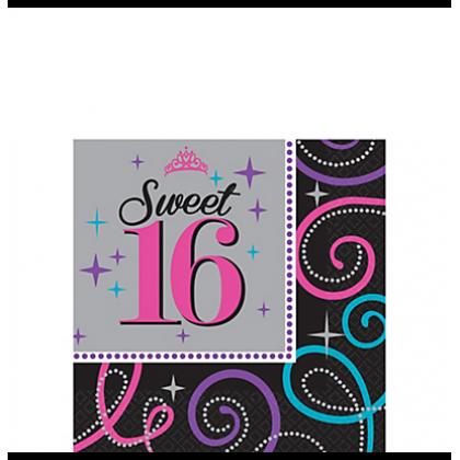 Sweet Sixteen Celebration Beverage Napkins