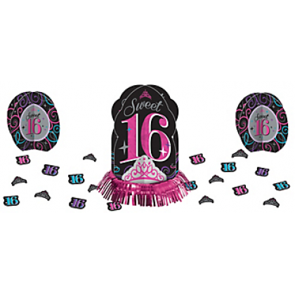Sweet Sixteen Celebration Table Decorating Kit