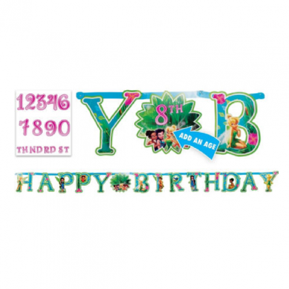 ©Disney Tinker Bell Jumbo Add-An-Age Letter Banner - Printed Paper