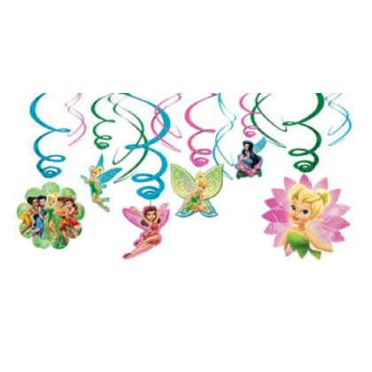 ©Disney Tinker Bell Value Pack Plastic Swirl Decorations