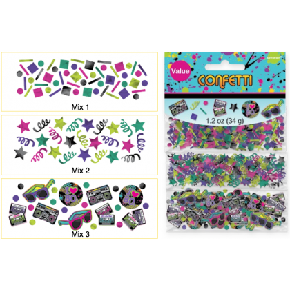 Totally 80's Value Pack Confetti - Foil & Paper