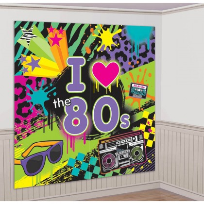Totally 80's Scene Setters® Wall Decorating Kit - Plastic