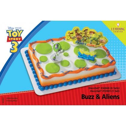 Toy Story 3 Buzz & Aliens Decoset