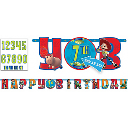 ©Disney/Pixar Toy Story Power Up Jumbo Add-An-Age Letter Banner - Printed Paper