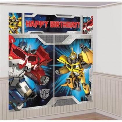 Transformers™ Core Scene Setters® Wall Decorating Kit - Plastic