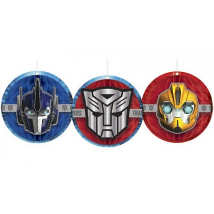 Transformers™ Core Honeycomb Decorations - Tissue & Printed Paper