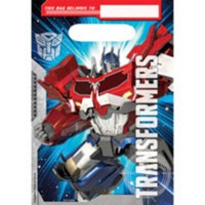 Transformers Core Folded Loot Bags - Plastic
