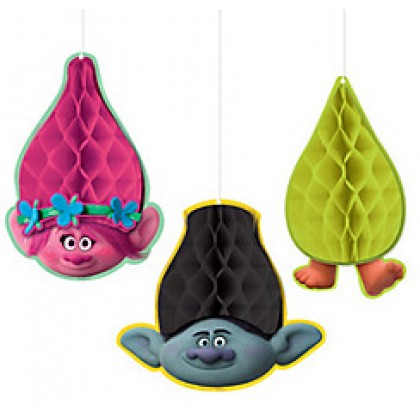 ©Trolls Honeycomb Decorations - Tissue