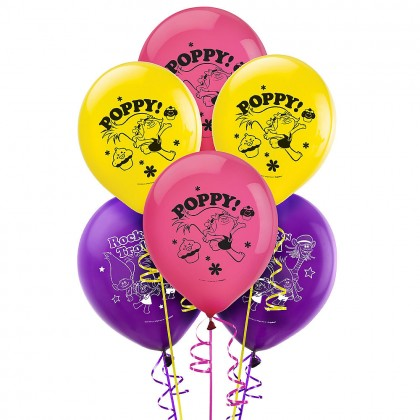 ©Trolls Printed Latex Balloons - Asst. Colors