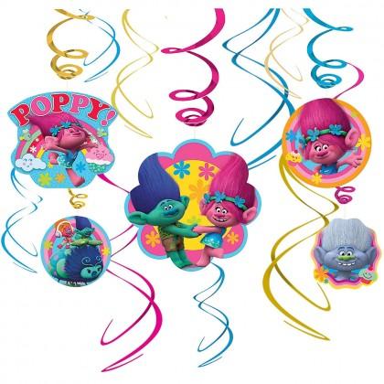©Trolls Value Pack Foil Swirl Decorations