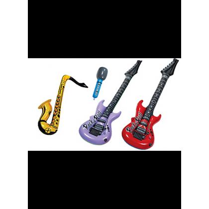 "9 1/2"", 22"" , 40"" Jukebox Rock Inflatable Instrument Asst."