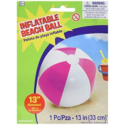 "13"" Inflatable Beach Ball - Pink"
