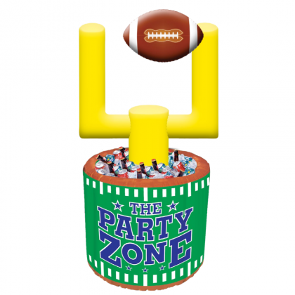 "Cooler 55 1/2""; Ball 6"" x 9 1/2"" Football Jumbo Inflatable Cooler"