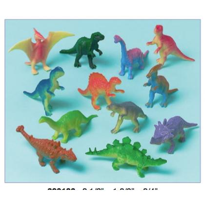 "2 1/2""H x 1 3/8""W x 3/4""D Dinosaur Favors"