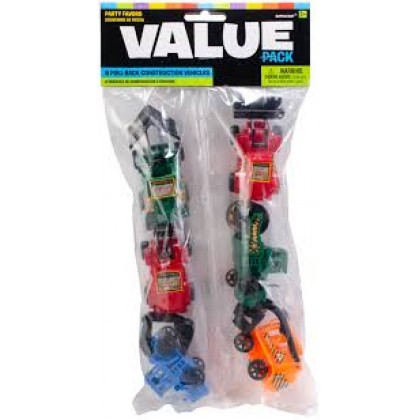"""3 1/4"""" Pull-Back Construction Vehicle Favors"""
