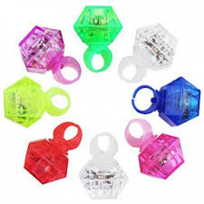 "1 3/16"" x 1 1/2"" Diamond Light-Up Ring Favor"
