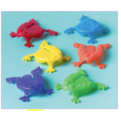 """2 1/8""""H x 2 1/8""""W x 5/8""""D Jumping Frog Favors"""