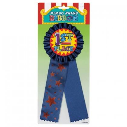 "11"" x 4 1/2"" Rosette Award Ribbon - Jumbo"