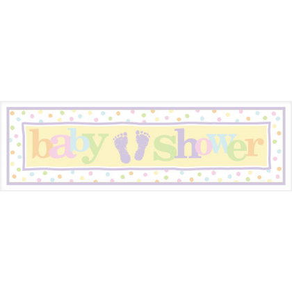 "65"" x 20"" Baby Steps Gaint Sign Banner - Plastic"