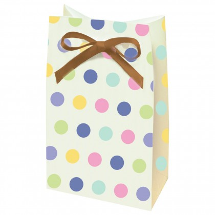 Tiny Bundle Paper Favor Bags w/Ribbons