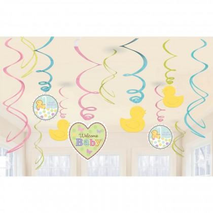 Tiny Bundle Value Pack Plastic Swirl Decorations